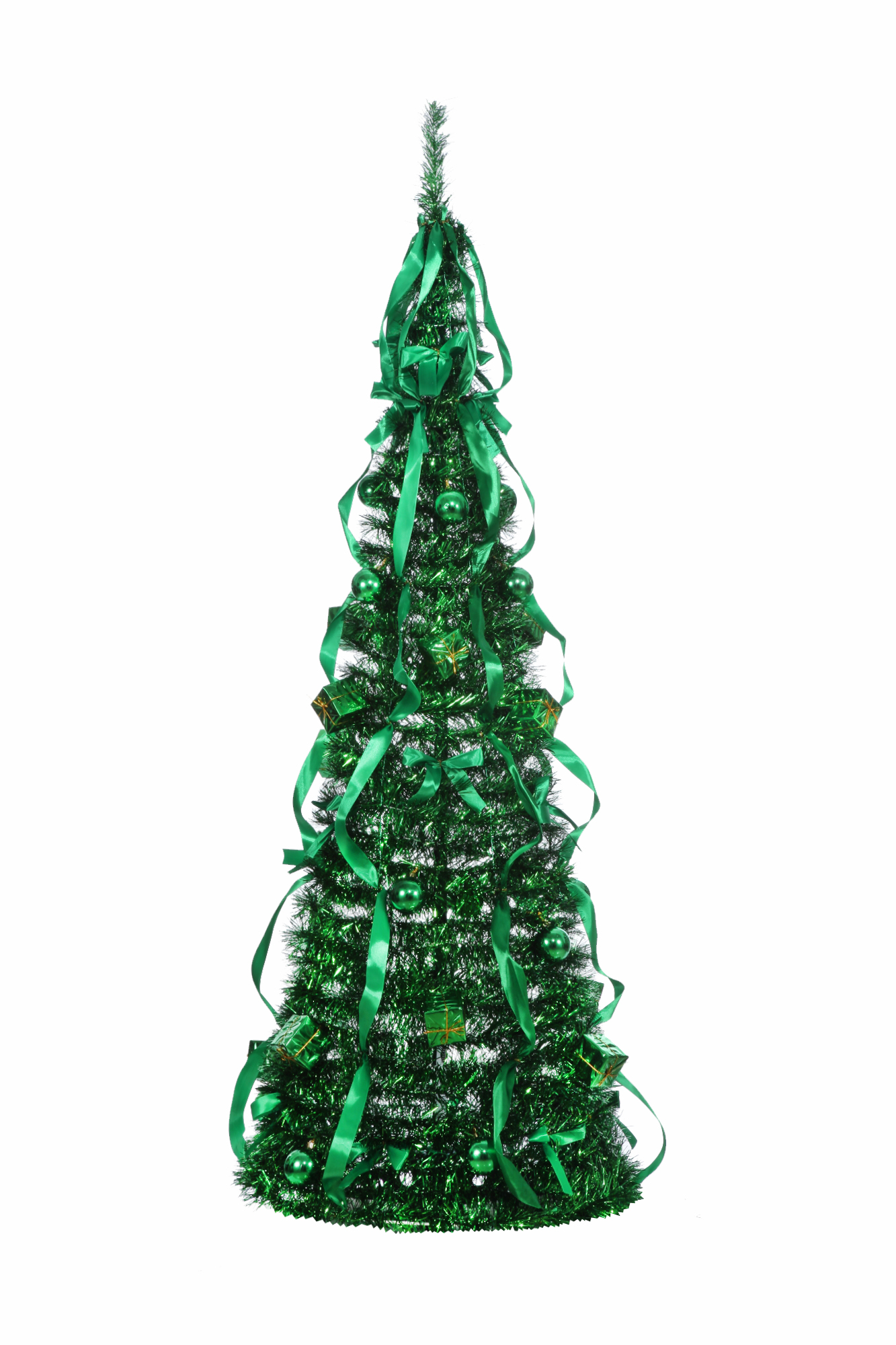 Homegear 5ft artificial decorated collapsible christmas for Artificial christmas decoration tree