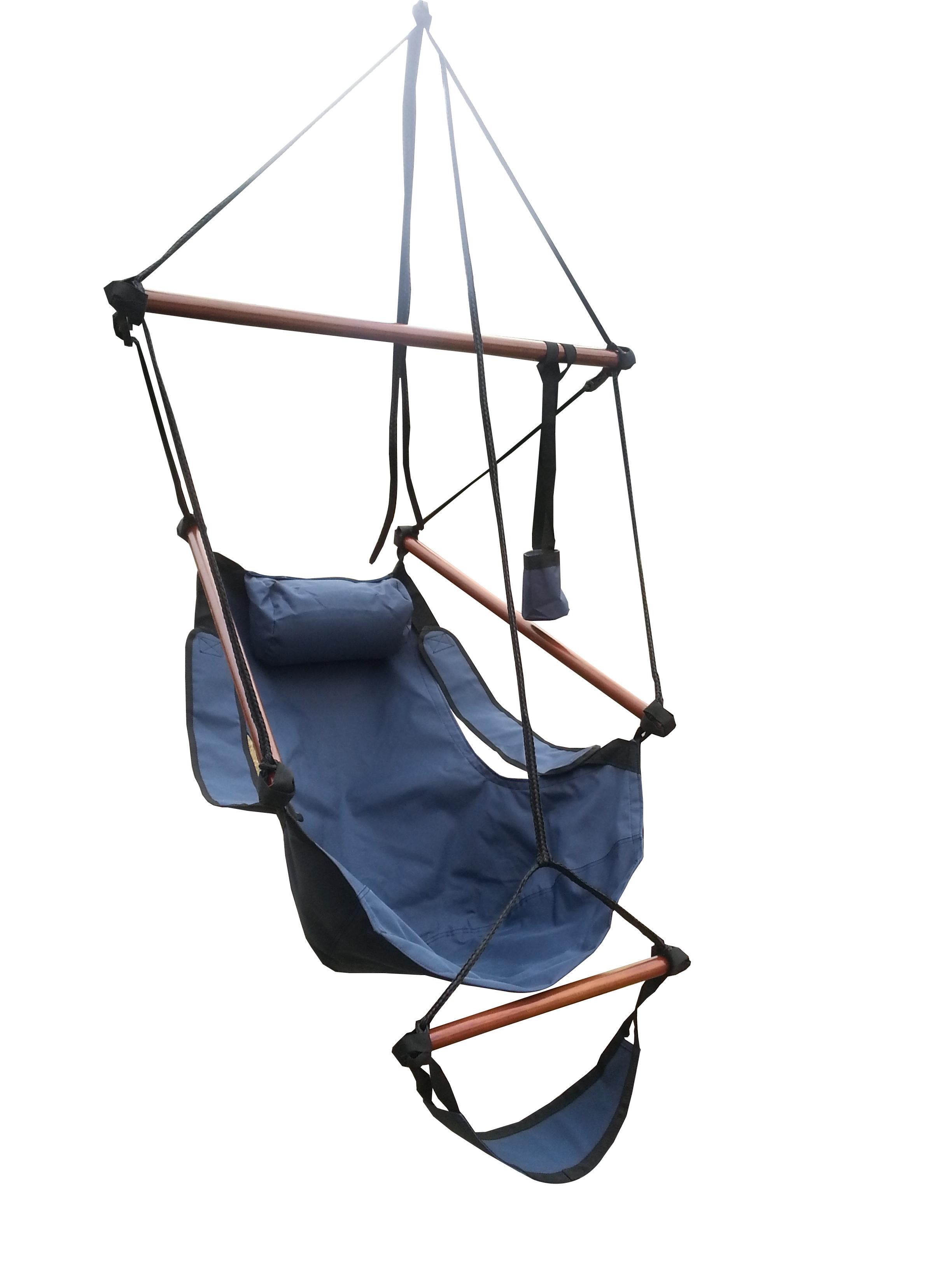 Palm springs sky air swing lounger hammock hanging chair w for Hanging chair spring