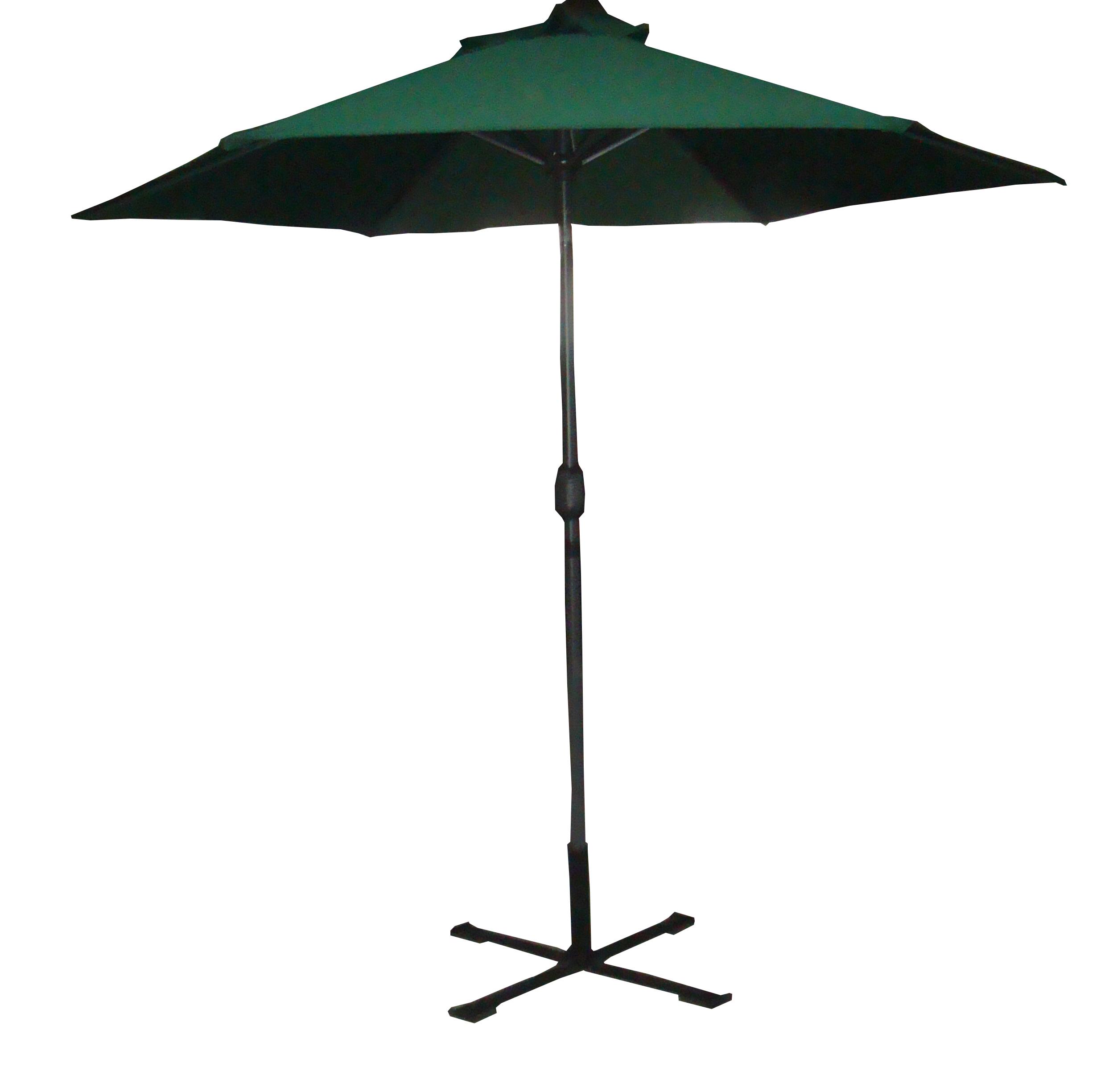 Palm springs 9ft aluminium outdoor patio umbrella garden for Outdoor patio umbrellas