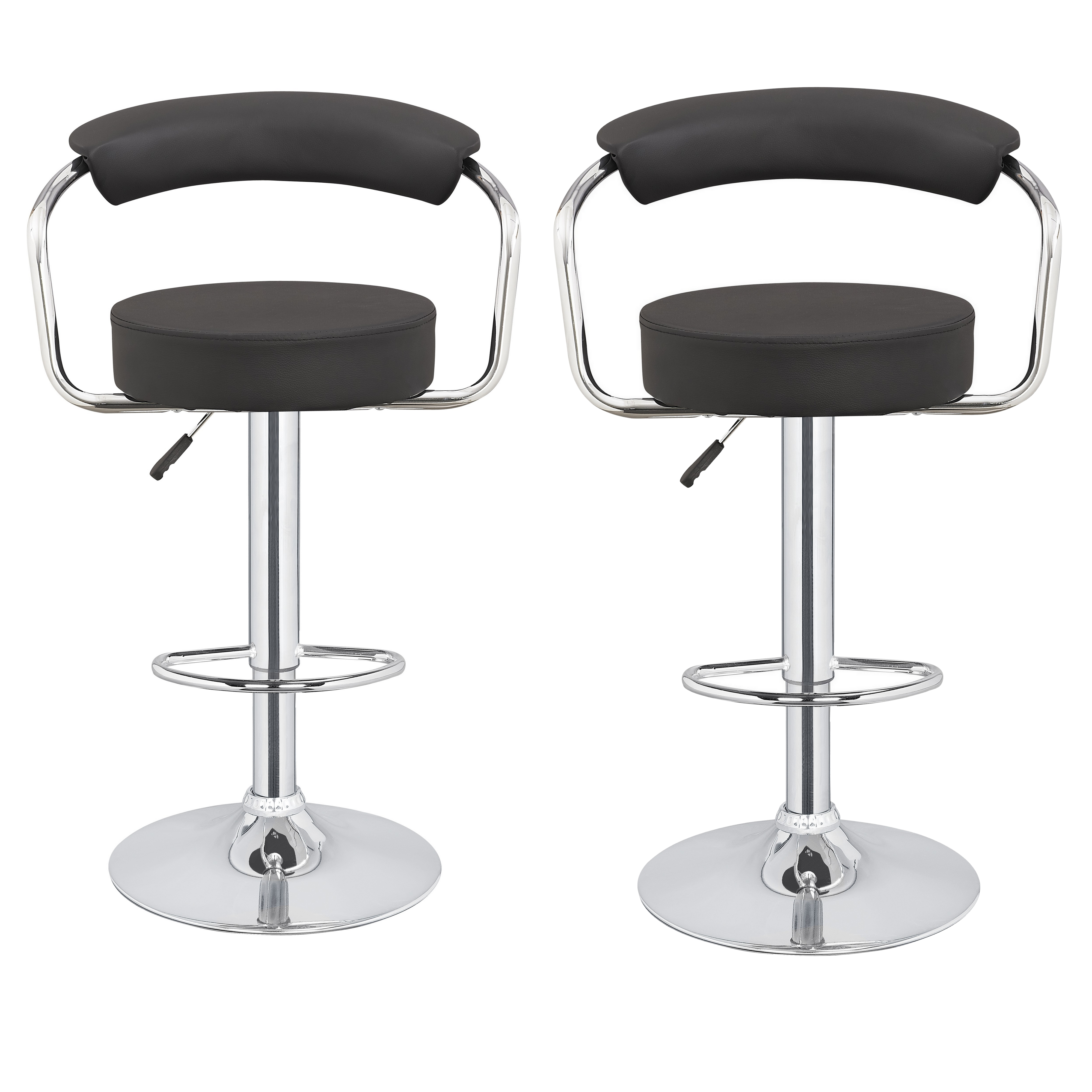 2 X Homegear M1 50s Diner Adjustable Swivel Faux Leather