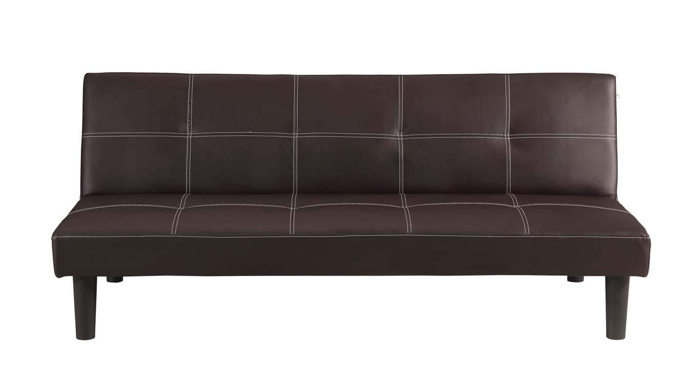 Homegear faux leather 2 seater folding sofa bed perfect for guest ebay for Banquette lit cuir