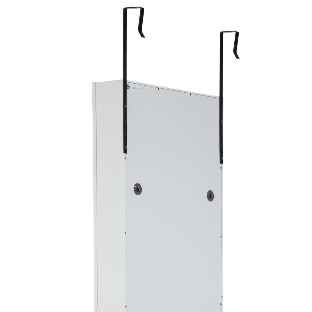 Homegear Moderno Gabinete Joyas montado en la Pared//Espejo De Dormitorio De Longitud Completa