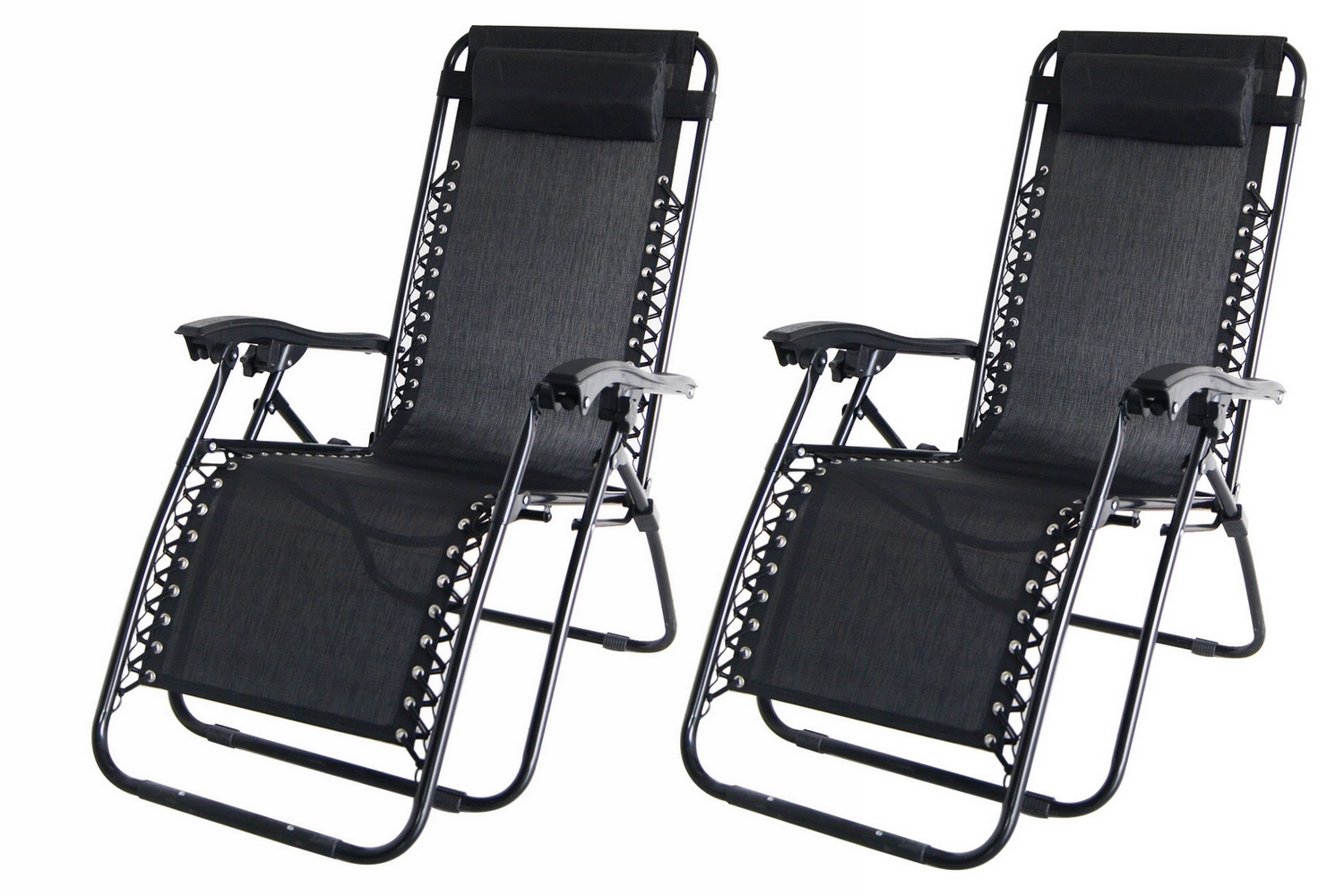 2x Palm Springs Zero Gravity Chairs Lounge Outdoor Yard