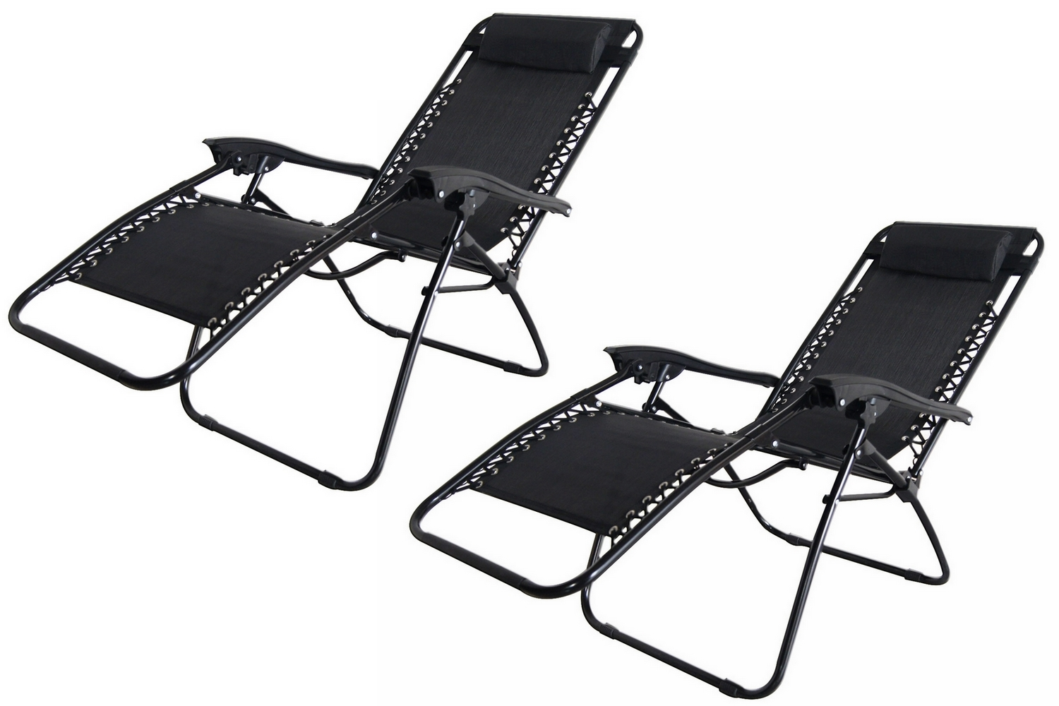 2x Palm Springs Zero Gravity Chairs Lounge/Outdoor Yard