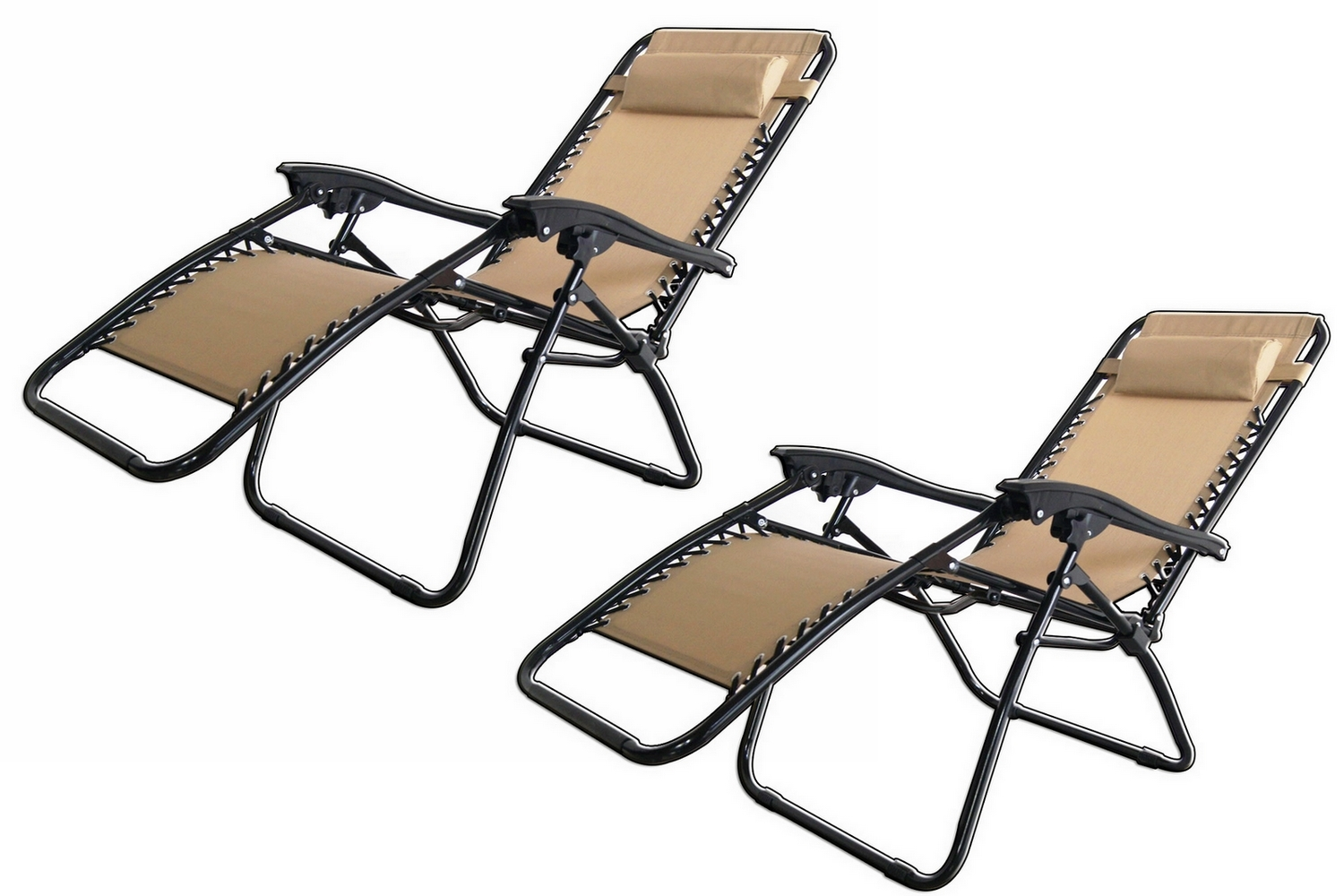 Patio gravity chair - 2x Palm Springs Zero Gravity Chairs Lounge Outdoor