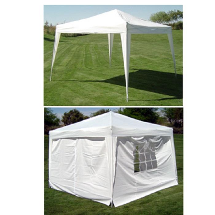 Gazebo Side Walls : Palm springs ez pop up white canopy gazebo tent