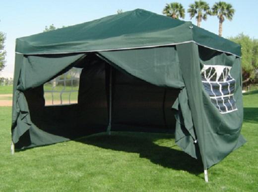 10 X 10 Palm Springs Ez Pop Up Canopy Gazebo Tent With 4