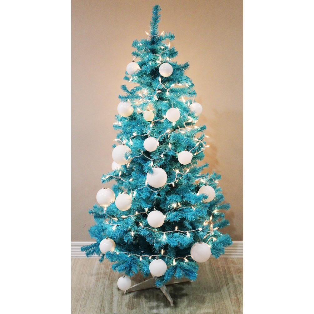 image is loading homegear 6ft artificial turquoise christmas tree xmas decoration