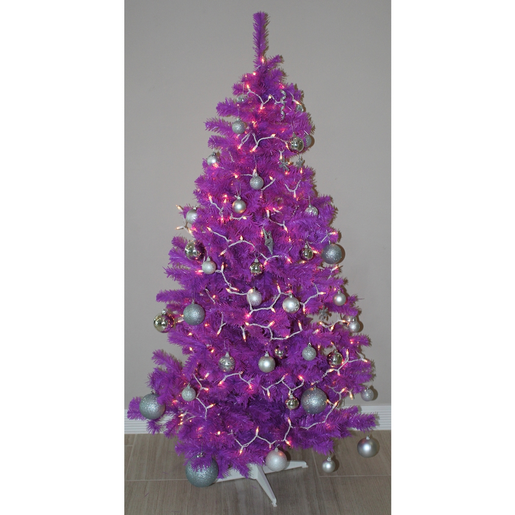 Plastic Christmas Tree.Details About Homegear 6ft Artificial Purple Christmas Xmas Tree