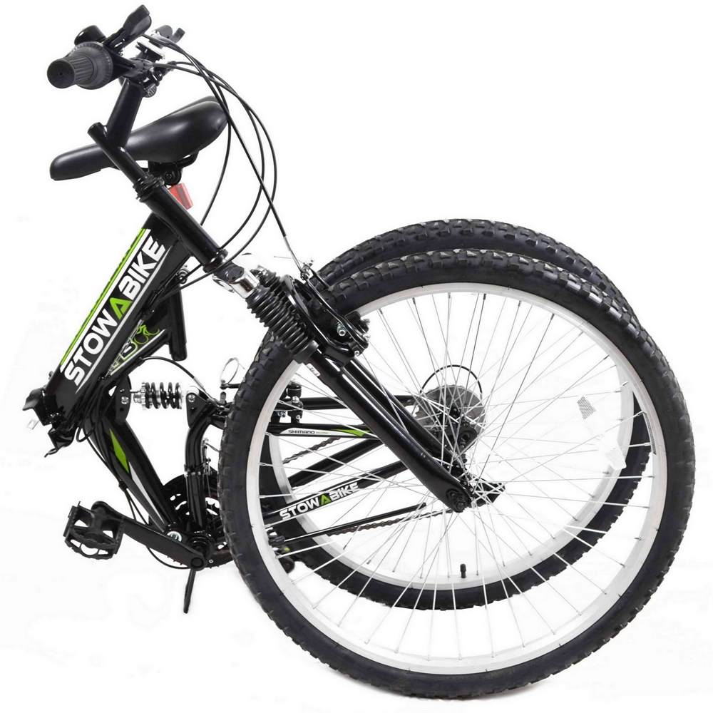 Stowabike-26-034-MTB-V2-Folding-Dual-Suspension-18-Speed-Shimano-Gear-Mountain-Bike thumbnail 3