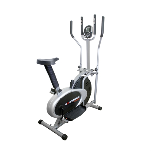 NEW CONFIDENCE FITNESS PRO 2-IN-1 ELLIPTICAL CROSS TRAINER
