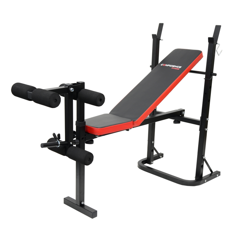 CONFIDENCE FITNESS HOME MULTI GYM DUMBBELL WEIGHT BENCH W ...