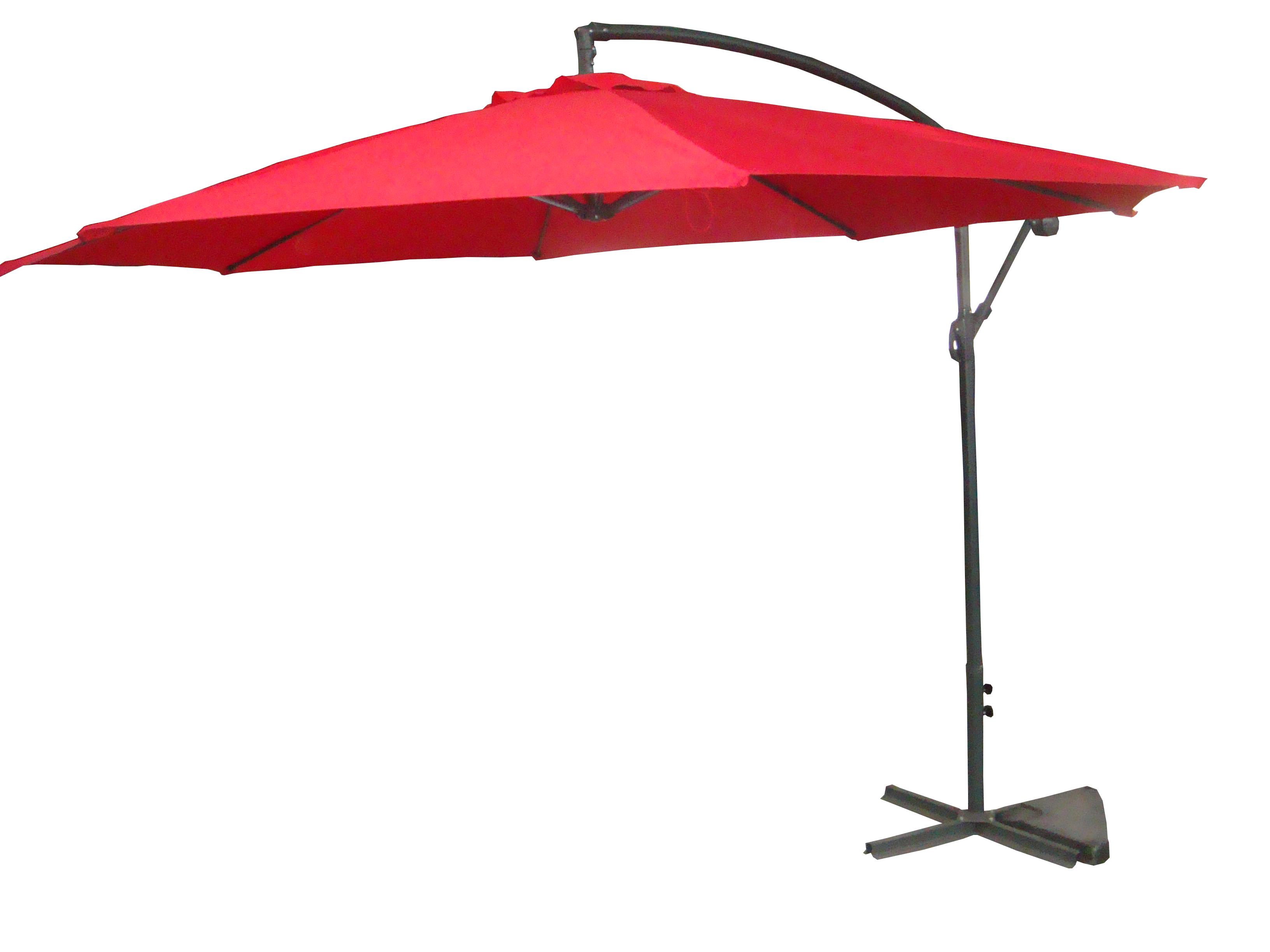 Palm Springs 10ft Offset Garden Umbrella Outdoor Patio