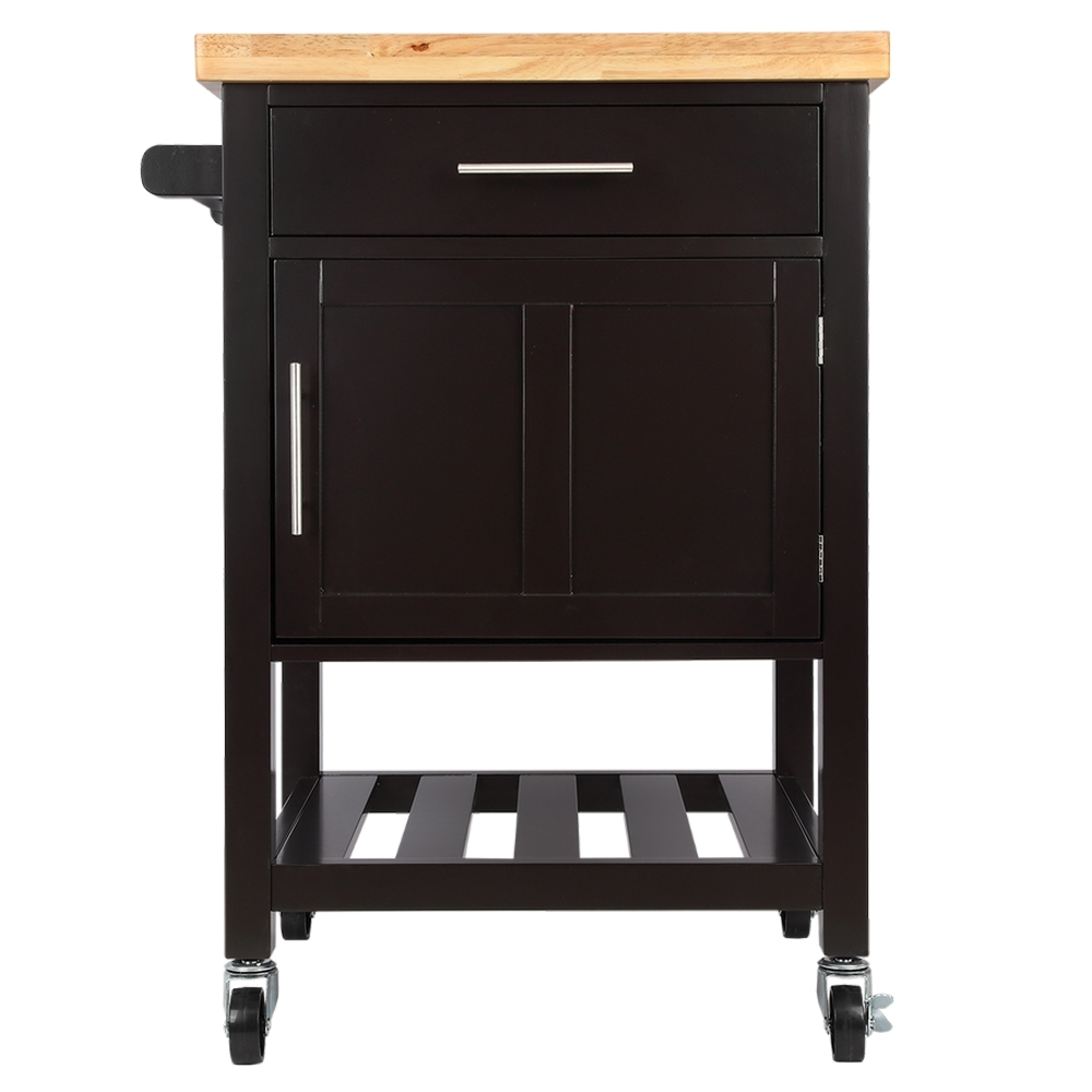 Homegear Kitchen Cart Butchers Block with Shelf and Cabinet on Wheels eBay