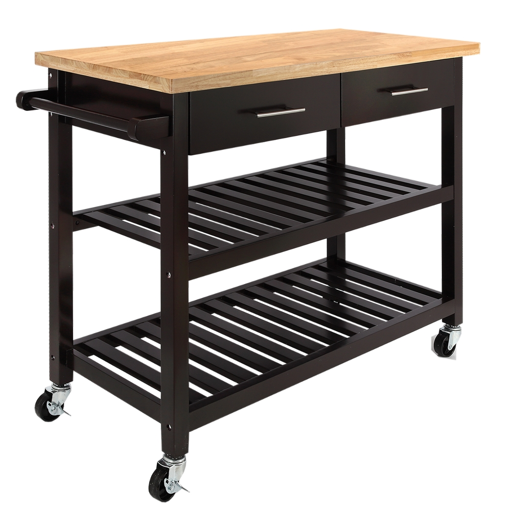 Details about Homegear Open Storage V3 Kitchen Cart with Shelves - Island  on Wheels