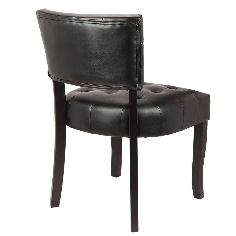 Homegear Oversized Tufted Faux Leather Accent Chair Ebay