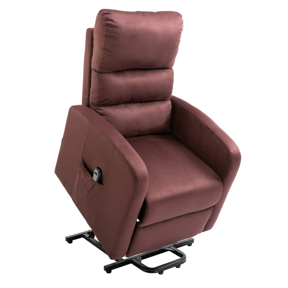 Details About Homegear Microfiber Power Lift Recliner Chair With Electric  Recline And Remote
