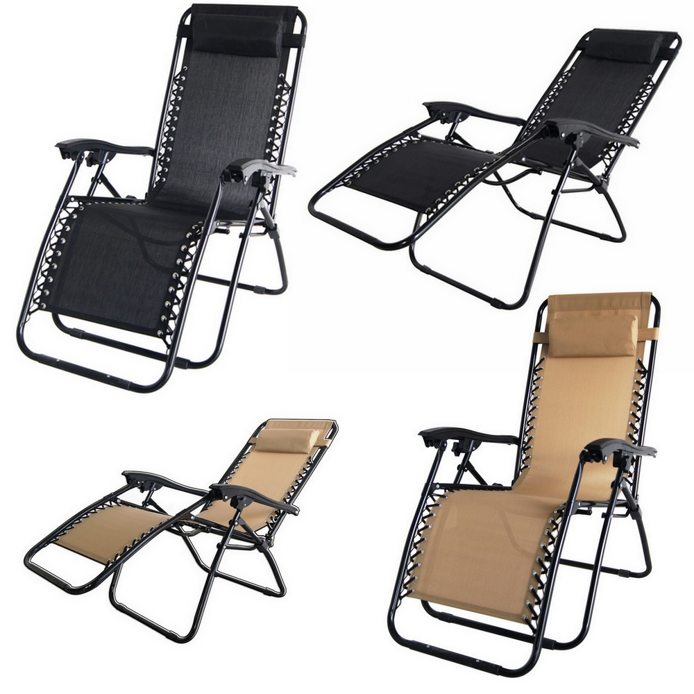 2x Palm Springs Zero Gravity Chairs Lounge Outdoor