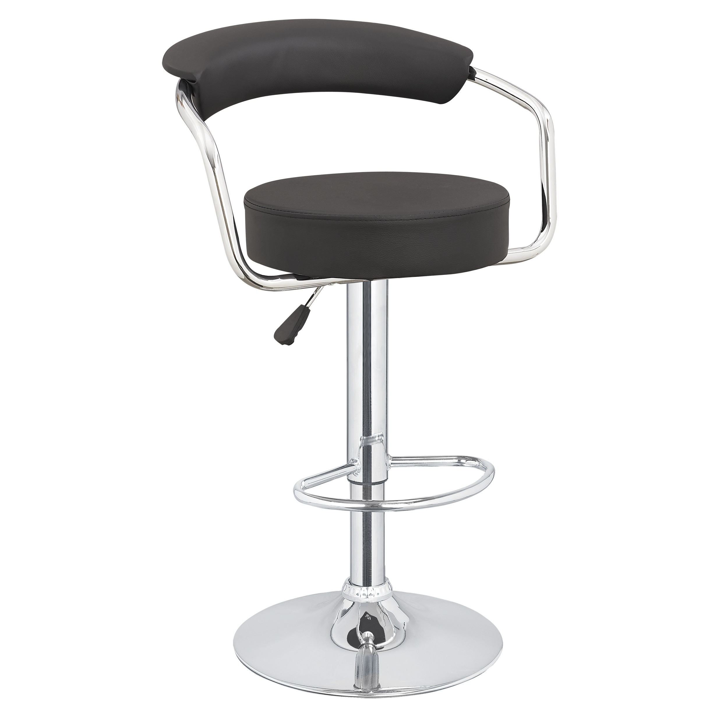 2-x-Homegear-M1-50s-Diner-Adjustable-Swivel-  sc 1 st  eBay : black faux leather bar stool - islam-shia.org
